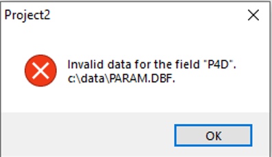 DBF- UniDAC foutmelding