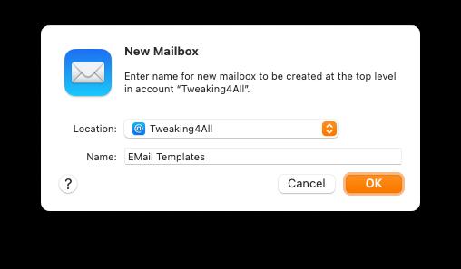 Apple Mail - Een mapje voor Templates