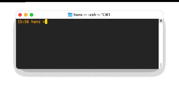 Z-Shell voorbeeld - Huidige tijd en directory